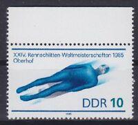 DDR Mi Nr. 2953 F 4 **, PF C mit Kerbe, Plattenfehler, postfrisch, MNH