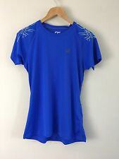 Women's Asics Stripe Blue Protection Running Top Size M Was £25 BNWT