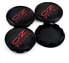 4x63mm OZ Racing Black Red Rim Caps Hub Caps Wheel Center Caps Badges M595