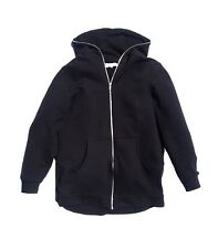 New! Avarice-Coe, mens black fully zipped hoodie, 100% cotton loopback.