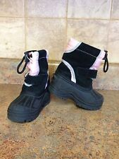 TODDLER GIRL'S TOTES SNOW BOOTS-SIZE: 6 MEDIUM