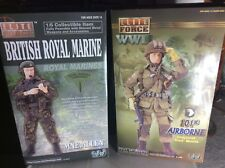 2 Very Rare Elite Force 1/6 Figures Royal Marine And Airborne Soldiers
