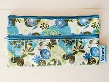 NORWEX REUSABLE WET WIPES TRAVEL BAG FLORAL for Wipes or Travel Envirocloth