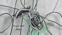 ROA Lampwork 2 Filigee Black With White Ruffle Handmade Disc Art Glass Beads SRA
