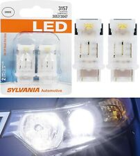 Sylvania LED Light 4157 White 6000K Two Bulbs Front Turn Signal Replace Lamp Fit