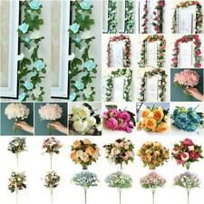 Artificial Flower Fake Vine Hanging Garland Bouquet Wedding Party Home Decoratio