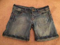 Primark Denim Co Shorts UK Size 10 Blue Brand New !