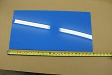 "BLUE ACRYLIC PLEXIGLASS LIGHT DIFFUSING PLASTIC SHEET .100""  X 12 "" X 23.75"""