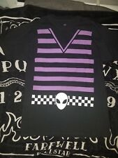 Medium Black Alien Purple Striped Belt Uniform Style Wear