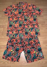 ZUMBA FULL SHIRT SHORT COMBO COMBINATION OUTFIT WILD CRAZY PATTERN EXERCISE GYM