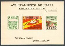 ESPAÑA - HB. SIN DENTAR - NERJA (MÁLAGA)  - GUERRA CIVIL - LOCALES - MNH