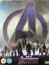 The Avengers Endgame 3D Blu-ray Marvel  UK Steelbook - Disney - New