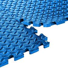 24 SqFt Steel EVA Foam Floor Mat Interlocking Tile Exercise Garage Gym 6pc Pad