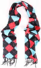 Argyle Diamond Pattern Plaid Acrylic Casual Warm Winter Scarf With Frings