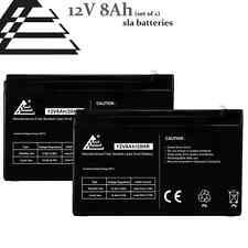 Set of 2- 12v 8Ah replaces 7Ah 9ah Sealed Lead Acid Battery for FIOS, UPS, APC