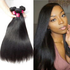 Straight Hair Weave 3 Bundles 100% Human Hair Indian Remy Hair Extensions 18inch