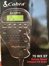 Cobra 75WXST Compact/Remote Mount CB Radio w/ Weather & SoundTracker System NEW