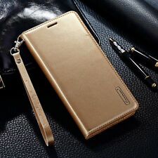 Luxury PU Leather Case Magnetic Card Slots Flip Cover For iPhone/Samsung Galaxy