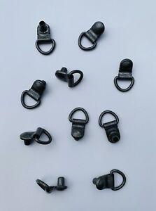 Schuhhaken// Schuhösen// geschlossener Haken Neu! runder Kopf 9,3 mm schwarz