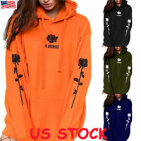 US Plus Size Ladies Women Girl Winter Hoodies Sweatshirt Hooded Jumper Coat Tops