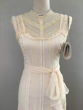 $298 BCBG MaxAzria Ivory Lace Silk Cocktail Dress Size 2 XS