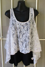 Forever New TOP Sz 14 Ladies off White Lace sleeveless