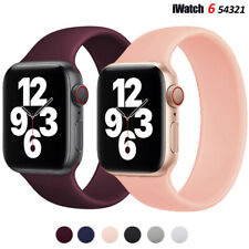 Solo Loop Silicone Strap for Apple Watch 6 SE 5 4 Band  iWatch band Elastic Belt