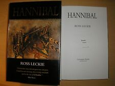 ROSS LECKIE - HANNIBAL  1st/1st  HB/DJ  1995  SIGNED & NUMBERED, LIMITED