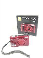 Nikon COOLPIX L28 20.1MP Digital Camera - Red 5X Zoom w/ Box