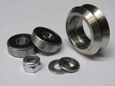 Metal Dual V Wheel Kit (3 pack) For Steel V Track, V Groove Linear Guide Rail