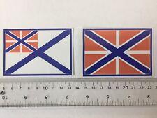 Russian Navy flag & jack vinyl stickers flags (set)