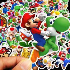 50pcs/set Cartoon Super Mario Muti-color Stickers Luggage Laptop Sticker Decals