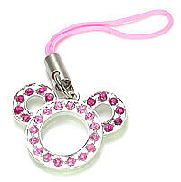 PINK MOUSE EARS Wholesale Cell Phone Charms