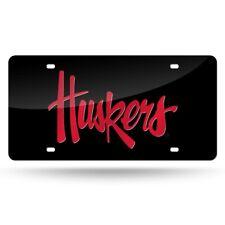 Nebraska Cornhuskers NCAA Logo Mirror Look LASER License Plate