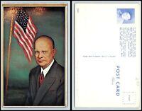 Vintage Postcard - President Dwight Eisenhower by Morris Katz C1