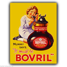METAL SIGN WALL PLAQUE BOVRIL 30's Vintage Retro poster art print kitsch picture