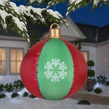 Gemmy Christmas 27.17 in Hanging Red & Green Ball Ornament Airblown Inflatable
