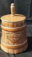 Cookie Jars Vtg McCoy Cookie Churn Brown Lidded Stoneware Butter Churn Style