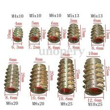 10 Hex Drive Screw In Threaded Insert Nuts Bushing For Wood Type E M4 M5