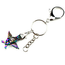 Y697 Wing Baby Footprint Beads Cage Keychains Charms Locket Key Ring