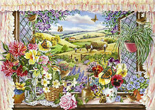 The House Of Puzzles - 500 BIG PIECE JIGSAW PUZZLE - Harvest View Big Pieces