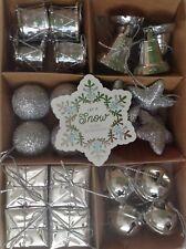 Christmas Tree Mini Decoration 24 Pieces Silver