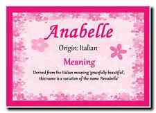 Anabelle Personalised Name Meaning Jumbo Magnet