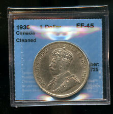 1936 Canada Silver Dollar CCCS Certified EF45  DCB139