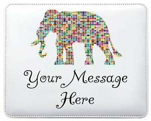 Custom elephant lovers gift ladies mouse mat any gift message mo 14-1