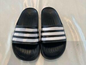 Adidas Boys Slides Adilette Aqua Sliders Beach Shoes Flip Flops Sandals UK11 KID