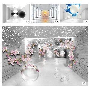 Vlies Fototapete 3D EFFEKT Abstrakt Magischer Tunnel Ausblick Blumen Wohnzimmer