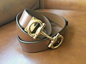 Salvatore Ferragamo Brown Leather Men's Belt Parigi Buckle Size 40