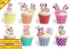 50 ragazze 1st Festa Di Compleanno Minnie Mickey Mouse Tazza DECORAZIONI PER TORTA COMMESTIBILI StandUp