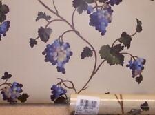 Purple Grapes on Yellow-Beige Wallpaper by Brewster Pattern DG84-73702